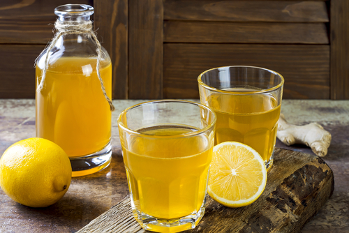kombucha tea or kefir are excellent for providing the gut with good bacteria