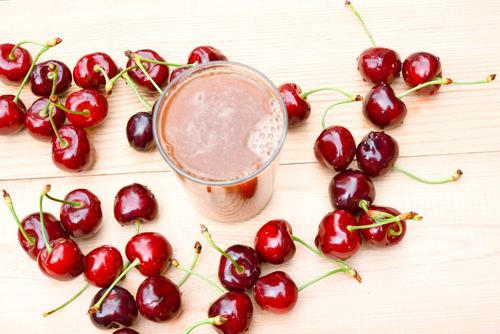 sour cherries might work to decrease muscle damage