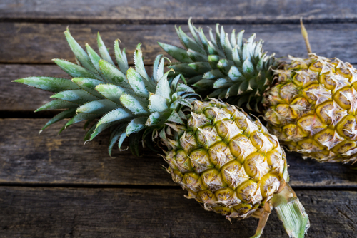 Pineapples contain digestive enzymes