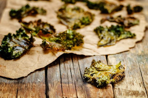 Kale chips as a healthy snack