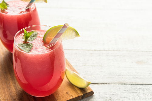 watermelon drink with lime