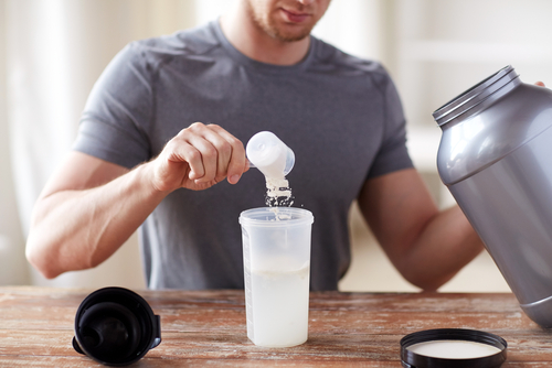 Look for a grass fed whey protein powder, which can also be found online.