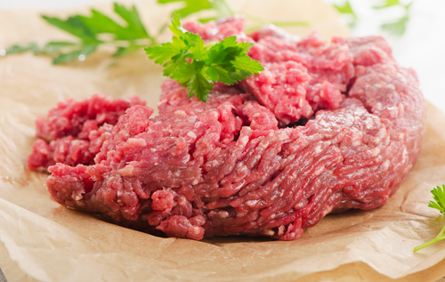 Ground beef that is fresh